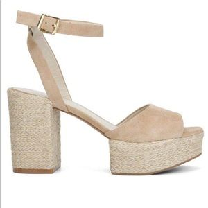 Kenneth Cole Suede Espadrille Phoenix Sandals